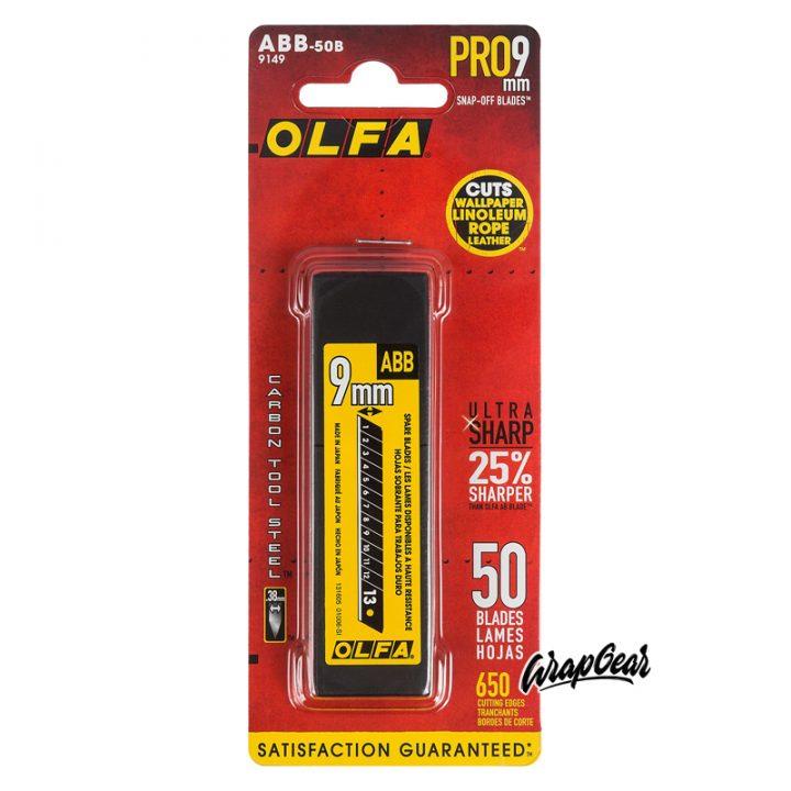 Olfa Carbon mesjes ABB-50B <br> 50 stuks
